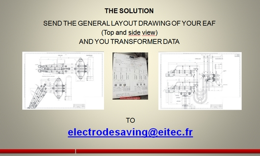 Send your general layout drawing to electrodesaving@eitec.fr