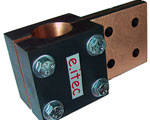 Glass furnace electrode clamps